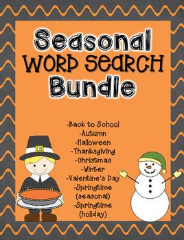 Seasonal Word Search Bundle