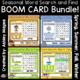 Seasonal Word Search Find and Type BOOM CARD Bundle - Digi