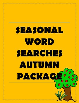 Seasonal Word Searches Autumn Package
