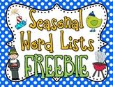 Seasonal Words Pack