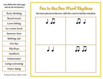 Seasonal Words - Rhythm & Syllable Matching Game