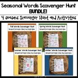 Seasonal Words Scavenger Hunt BUNDLE