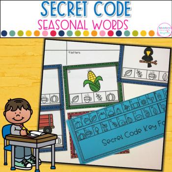 Seasonal Words- Secret Code Bundle