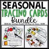 Seasonal Words Tracing Cards YEAR-LONG BUNDLE