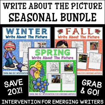Picture Writing Prompts BUNDLE | Fall, Winter and Summer | Writing Center
