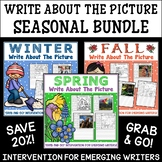 EDITABLE Picture Writing Prompts BUNDLE   Fall, Winter & S