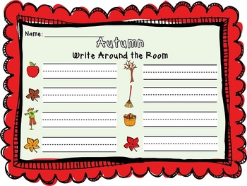 Seasonal Write Around the Room Activities {Set 1}