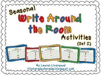 Seasonal Write Around the Room Activities {Set 2}