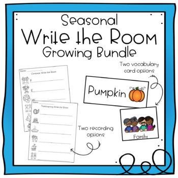 Seasonal Write the Room GROWING BUNDLE