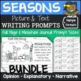 Seasonal Writing Prompts Bundle {Opinion, Explanatory, Narrative}