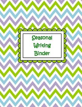 Seasonal Writing Binder Divider Pages