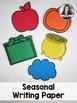 Writing Center Paper - Seasonal Templates