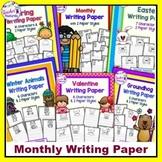 Seasonal Writing Paper   WINTER THEME   SPRING THEME