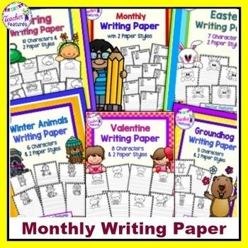 Seasonal Writing Paper | WINTER THEME | SPRING THEME