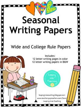 Seasonal Writing Papers