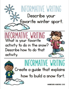 Seasonal Writing Prompts BUNDLE - Informational, Narrative, & Opinion Writing