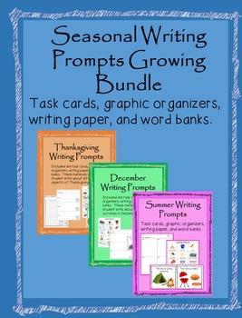 Seasonal Writing Prompts Growing Bundle
