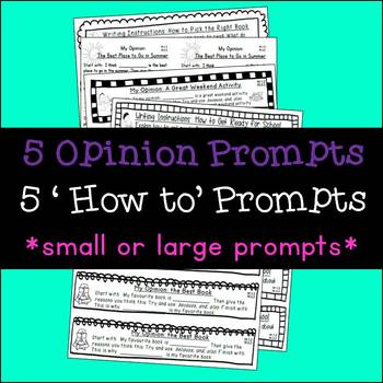 Seasonal Writing Prompts: Opinions and Procedures (April & May)