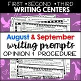 Seasonal Writing Prompts: Opinions and Procedures (Aug & Sept)