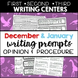 Seasonal Writing Prompts: Opinions and Procedures (Dec & Jan)