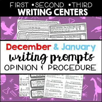 Seasonal Writing Prompts: Opinions and Procedures (Dec & Jan)