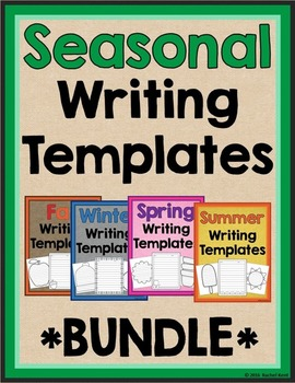 Seasonal Writing Templates Bundle
