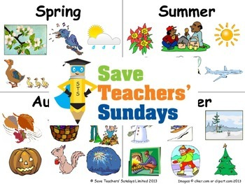 Seasonal activities and events Lesson plan, Images and Worksheet