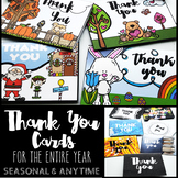 Seasonal and Anytime Thank You Cards