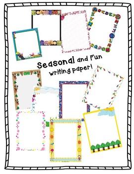 Seasonal and Fun Writing Paper