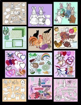 Holiday and Seasonal Clip Art Bundle of 338 Realistic images 300dpi PNG's