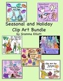 Holiday and Seasonal Clip Art Bundle of 338 Realistic imag