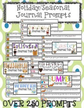 Seasonal and Holiday Journal Writing Prompts