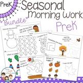 Seasonal and Holiday Morning Work PreK Preschool - Fall Wi