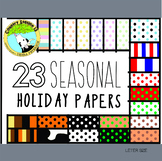 Seasonal and Holiday Paper Polkas and Stripes