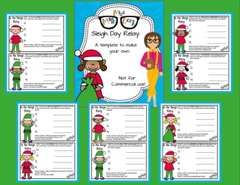 Seasonal and Holiday Relay template BUNDLE ALL TEN - Personal Use Only!