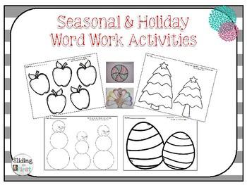 Seasonal and Holiday Word Work