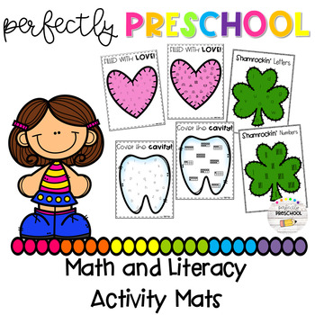 Seasonal and Themed Math and Literacy Activity Mats Bundle