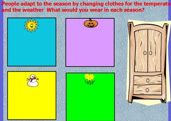 Seasonal changes and day and night flipchart