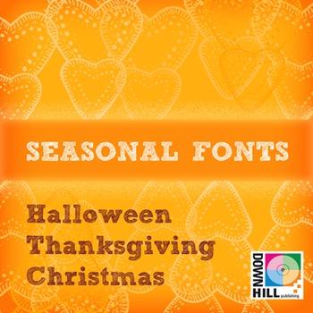 Seasonal family font (18 fonts)