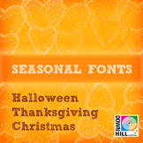 Seasonal family font (18 fonts)