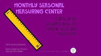 Seasonal measuring math center