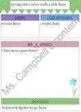 Seasonal newsletter templates