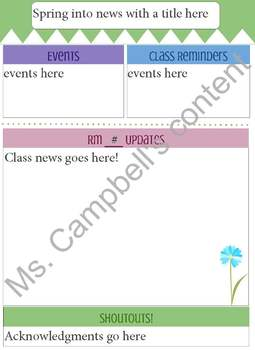 Seasonal newsletter templates