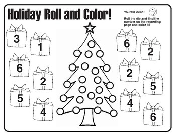 Seasonal roll and color number recognition.