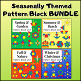 Seasonally Themed Pattern Block Unit BUNDLE - Fall, Winter, Spring, Summer