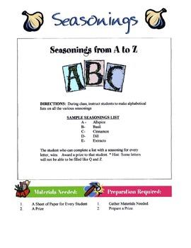 Seasonings Lesson