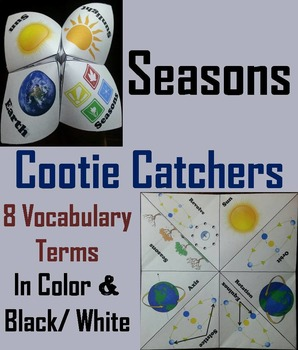 Reasons for the Seasons Activity/ Foldable: Rotation and Revolution, Axis, etc.