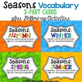 Seasons 3-Part Montessori / Vocabulary Cards BUNDLE