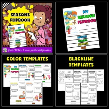 Four Seasons Activities BUNDLE (PowerPoint, Flipbook and Craft)