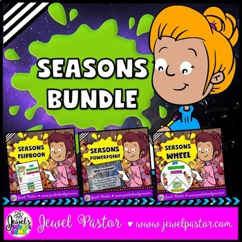 Four Seasons Activities BUNDLE (PowerPoint, Flipbook and Craft)